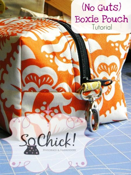 Boxie Pouch Tutorial (no guts - a.k.a. no exposed seams/seam allowances)