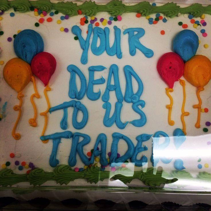 Going away cake #fail