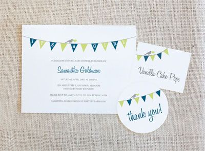printable baby shower invitations bunting baby shower printable