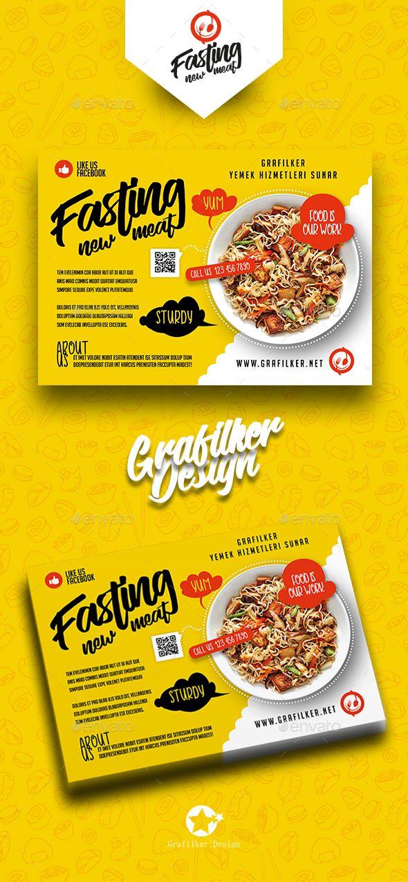 Restaurant Flyer Template PSD, InDesign INDD