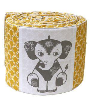 Roommate - Sengerand-karrygul med elefant