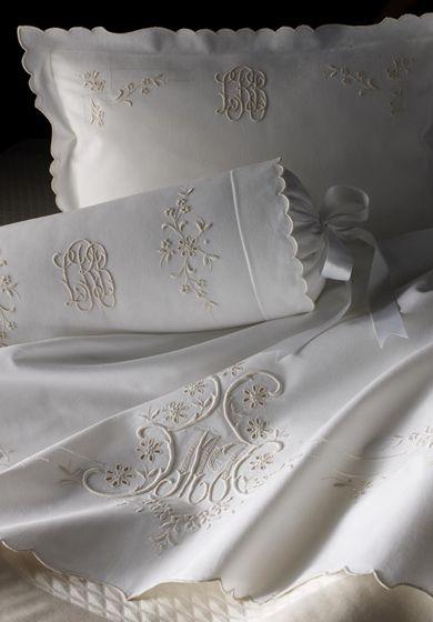 Beautiful linens with beautiful monograms!!!!!