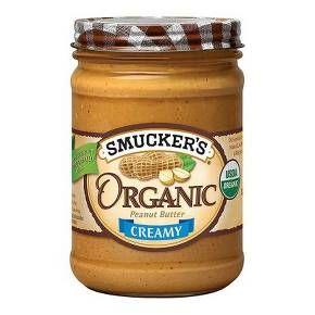 Smuckers Peanut Butter Creamy Organic 16 oz : Target