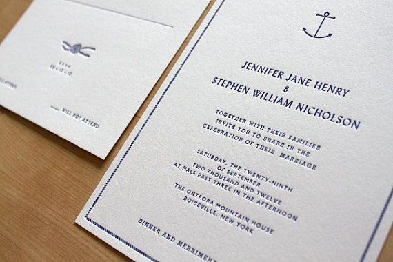 Sailboat Wedding Invitations: Best 25+ Nautical Wedding Invitations Ideas On Pinterest