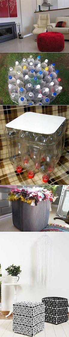 Пуфик из пластиковых бутылок (мастер-класс) / Мебель / ВТОРАЯ УЛИЦА