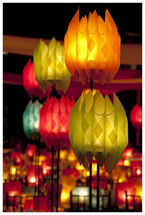 Rolled Paper lanterns