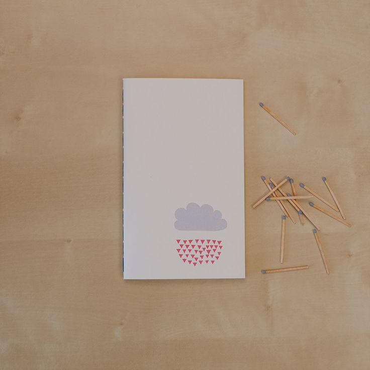 Raindrops keep falling on my head _Hand-stitched 40 page blank notebook _Sketchy Notebooks _www.sketchynotebooks.com