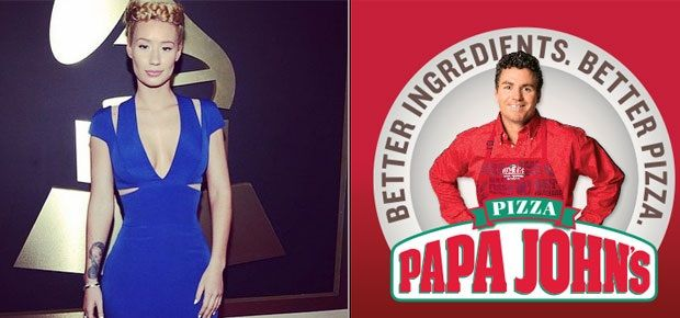 Iggy Azalea declares Twitter war with Papa John's Pizza