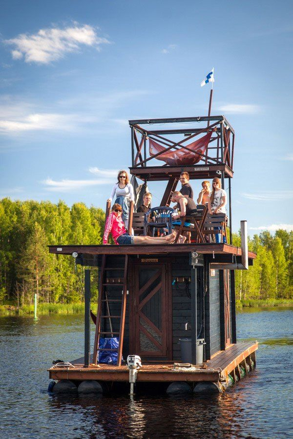 This DIY Sauna Raft is All Kinds of Awesome