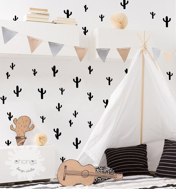 Cactus Wall Decal// I just like cactuses