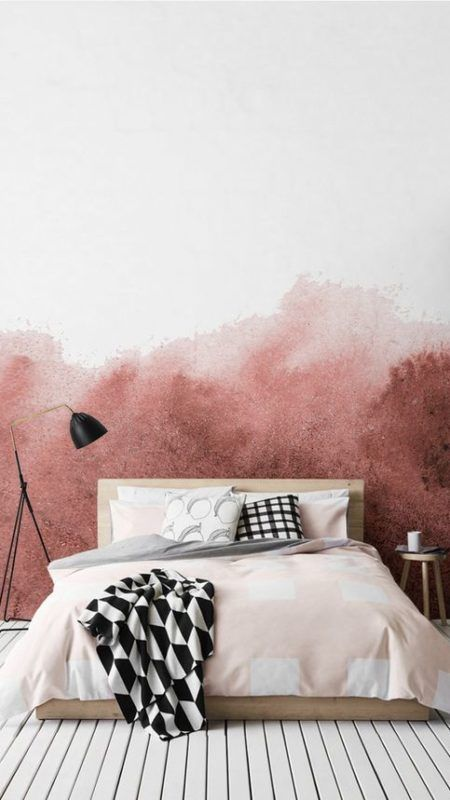 Blush pink in the bedroom!