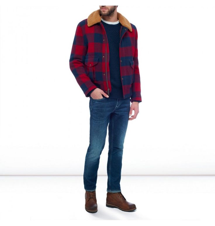 Veste en jean homme rouge