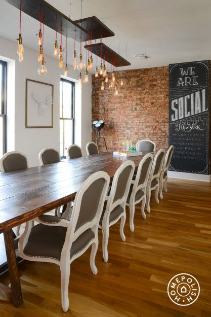 We Are Social's NYC office incorporates unique and eye catching decor elements.