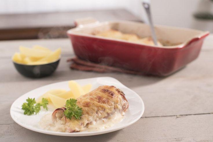 Een overheerlijke witloof met kaas en hesp, die maak je met dit recept. Smakelijk!