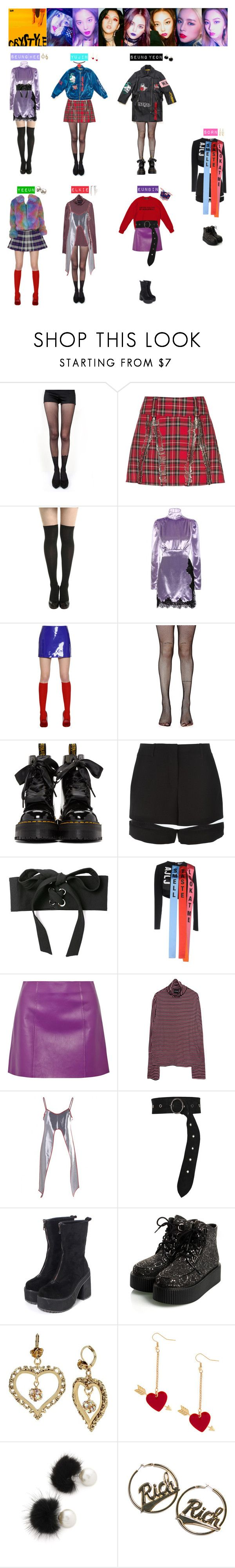 """""""CLC - HOBGOBLIN❤️💙💜💚💛"""" by vvvan99 ❤ liked on Polyvore featuring Pretty Polly, Alessandra Rich, Au Jour Le Jour, Music Legs, Dr. Martens, Alexander Wang, T By Alexander Wang, Bobby Kolade, Dorothee Schumacher and Betsey Johnson"""