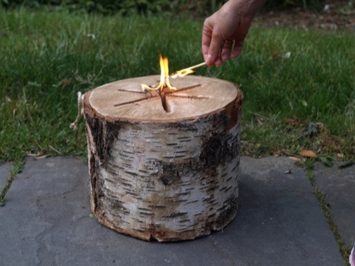 Easy Outdoor Ambiance: Light 'n Go Bonfire Log