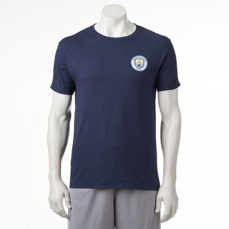 Men's Manchester City FC Logo Tee, Size: Medium, Blue (Navy)