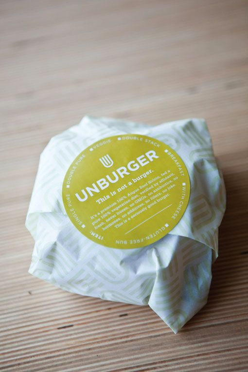 "Sometimes the product speaks for itself, and the packaging just explains what it is. This a classic definition of a successful packaging is such a fashion. ""Unburger"" draws your attention to the description, while the color lets you know of an organic nature."