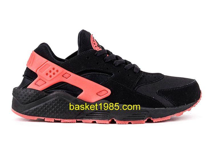 nike air huarache chaussures de running pas cher pour homme noir rouge 700878 006