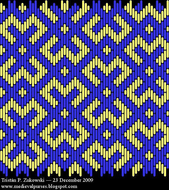 Taschen: new brick stitch pattern #2, not based on extant piece.