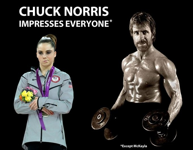 Chuck Norris Impresses Everyone, Except McKayla