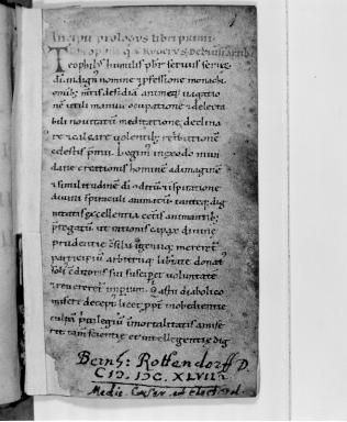 Folio 1 of Codex 2527, preserved at the Austrian National Library. (View Larger)