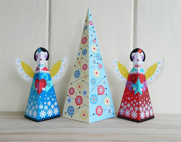 Festive Christmas Tree paper craft by EllenGiggenbach on Etsy