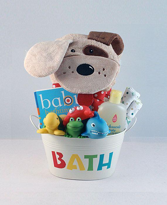 Baby Bath Gift Bucket by ThePaisleyBox on Etsy, $16.00