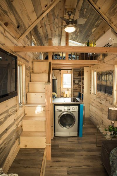 Tumbleweed Tiny House Elm with Beetle Kill Interior