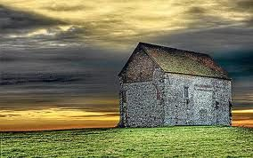 Church of St Peter-on-the-wall, believed to be the oldest church building in the British Isles that is still standing. Built by St Cedd, a Celtic priest who was educated on Lindisfarne, the building looks out to sea  near the town of Bradwell-on-Sea in Essex (Source: The Telegraph)