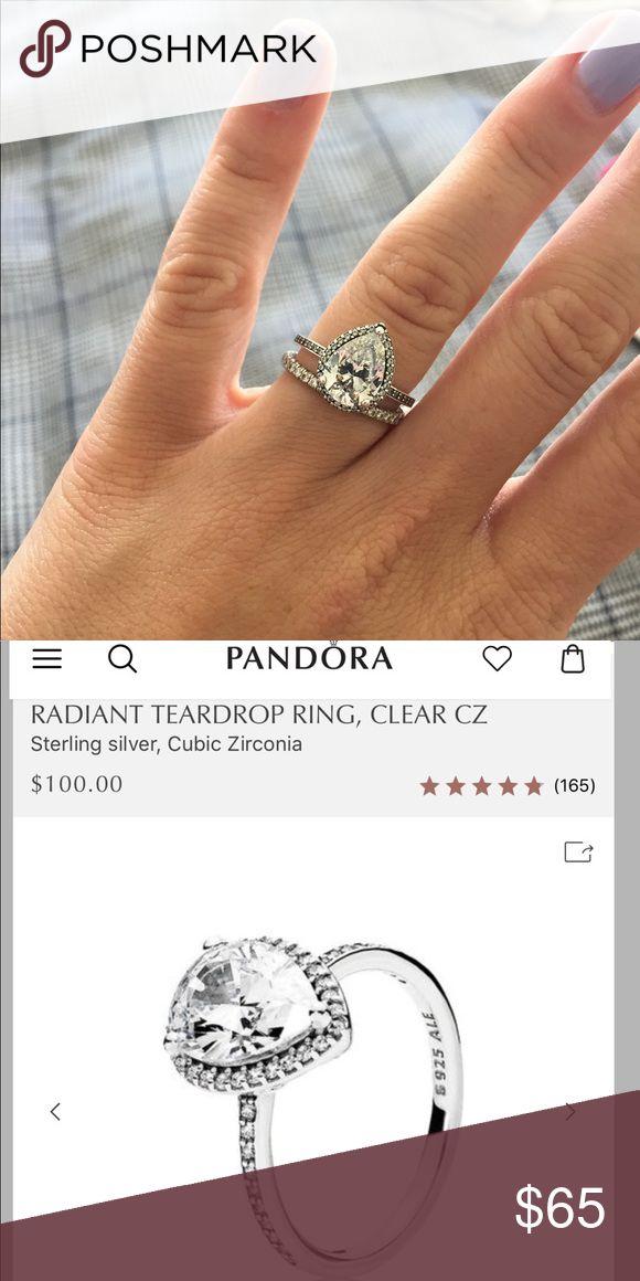 81c71a38c Pandora Radiant Teardrop Ring Pandora Radiant Teardrop Ring. EUC. Size 7.  Pandora Jewelry Rings | My Posh Picks in 2019 | Teardrop ring, Rings,  Jewelry