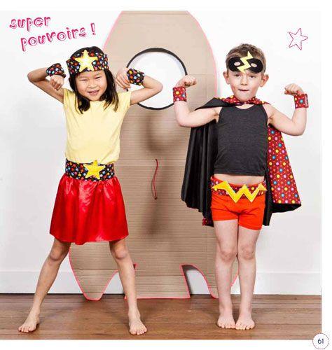 Déguisements et jouets en tissu par Virginie Desmoulins :  Super Héros #deguisement #couture #diy