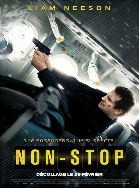 Non-Stop -  2014  - * * * * An air marshal springs into action during a transatlantic flight after receiving a series of text messages that put his fellow passengers at risk unless the airline transfers $150 million into an off-shore account.