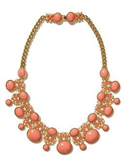 Tropical sunset necklace | Banana Republic - I need this necklace- the style is stalking me