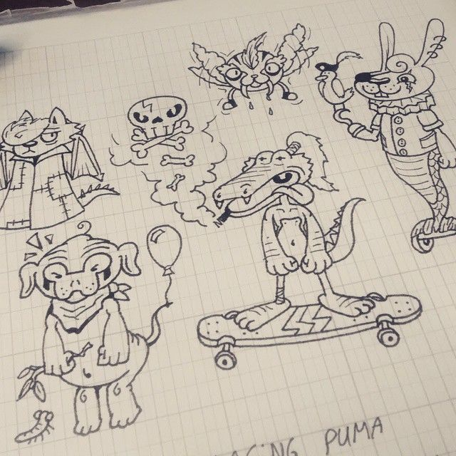 Random doodles portfolio ideas sketches pinterest for Random sketch ideas