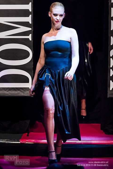'O' skirt at the Dominatrix show.
