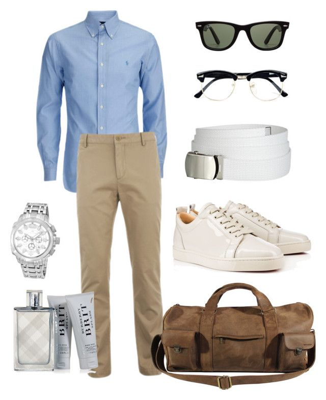 Dust and Sky by danielsmid on Polyvore featuring Lacoste, Porsamo Bleu, Ray-Ban, Topman, Kjøre Project, Burberry, men's fashion and menswear
