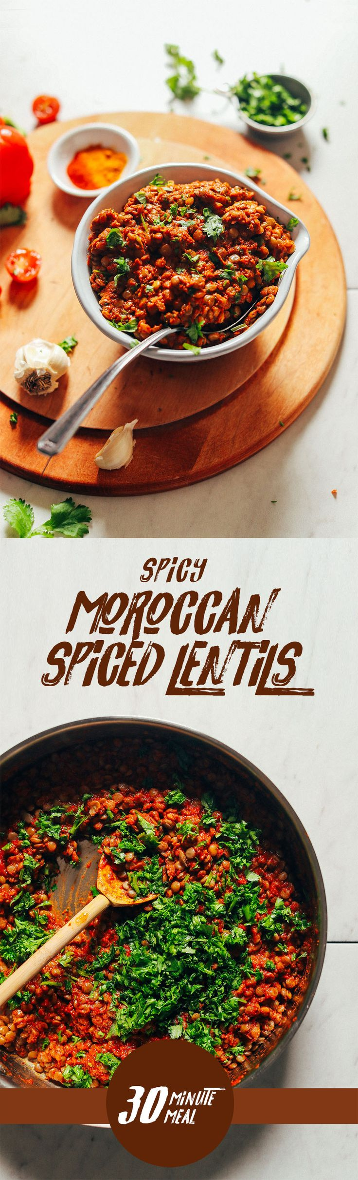 AMAZING Moroccan Spiced Lentils! Just 30 minutes required