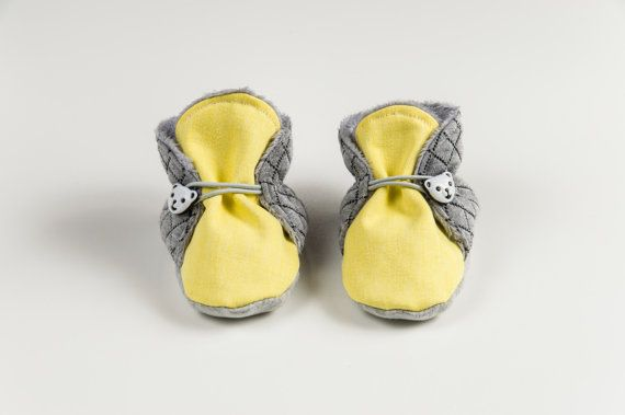 Yellow, cool baby shoes, toddler shoes, girls slippers, newborn crib shoes, baby booties, panda