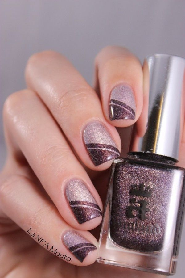 shimmery accents (& 25 other Glamorous Nail Art Designs)