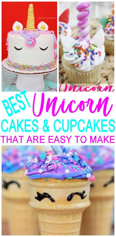 Magical Unicorn Birthday Cakes Easy Unicorn Cupcakes Kids