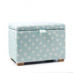 Adairs Kids Hampton Toy Box Mint Spot, toybox, toy box