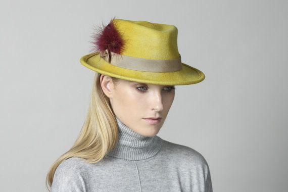 Women's Felt Fedora , Fedora Felt Hat , Winter Hat , Women's Hat , Felt Hat For Women , Fedora Hat For Men , Men's Fedora , Fedora on Etsy, 618.52₪