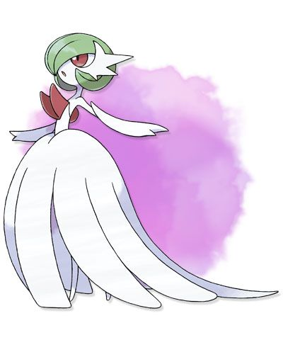 Mega Gardevoir.... it looks like it's about to get married.... poor male gardevoir....