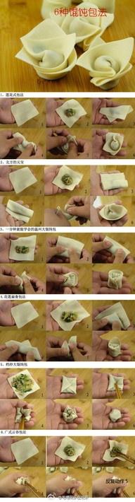 Как лепить пельмени по китайски - Кулинария