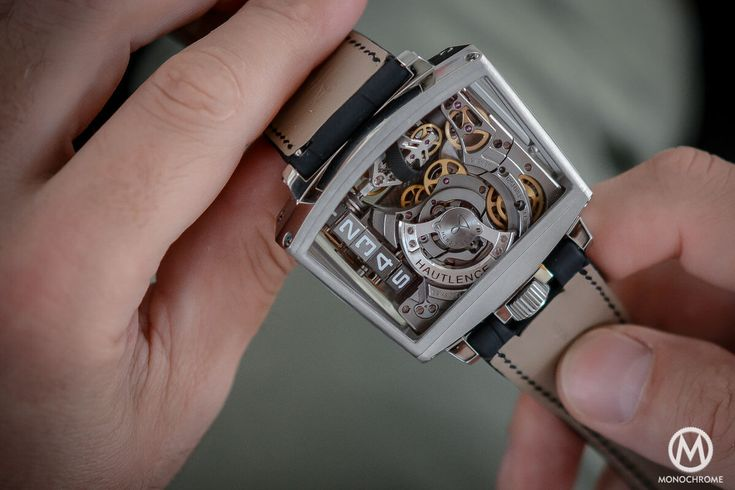 Hautlence Vortex 01 the case is a cage the whole caliber is revealed