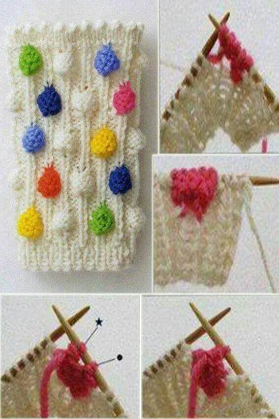 Pretty knitting stitch