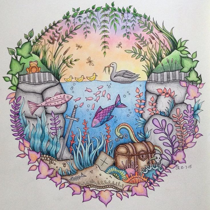 Johanna Basford Enchanted Forest Colored by Christine Roberts