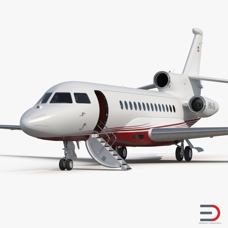 Business Jet Dassault Falcon 7X 3D