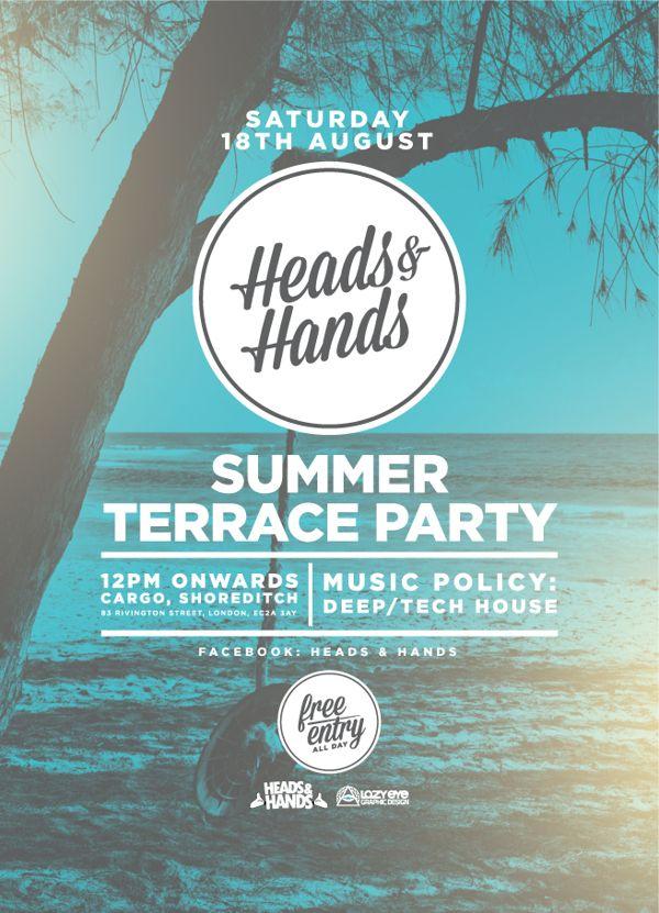 Heads & Hands Summer Terrace Party by Sean Frigot, via Behance